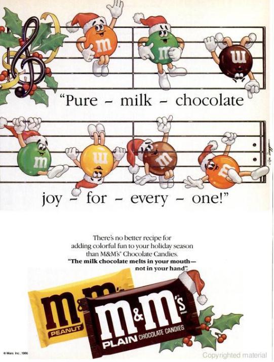 M and Ms WM Dec 86