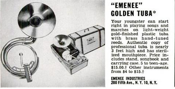 Emenee Golden Tuba Life Nov 1954