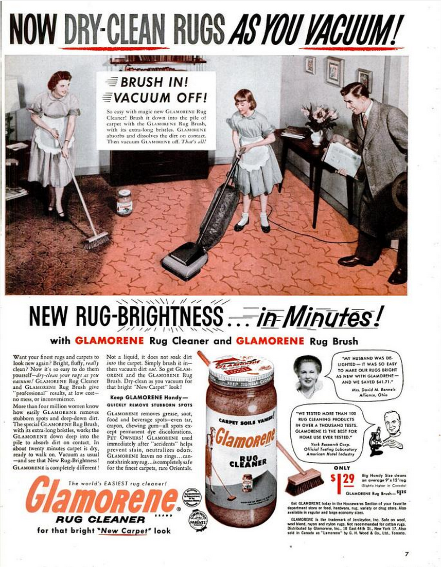 Glamorene rug cleaner Life Mar 16 1953