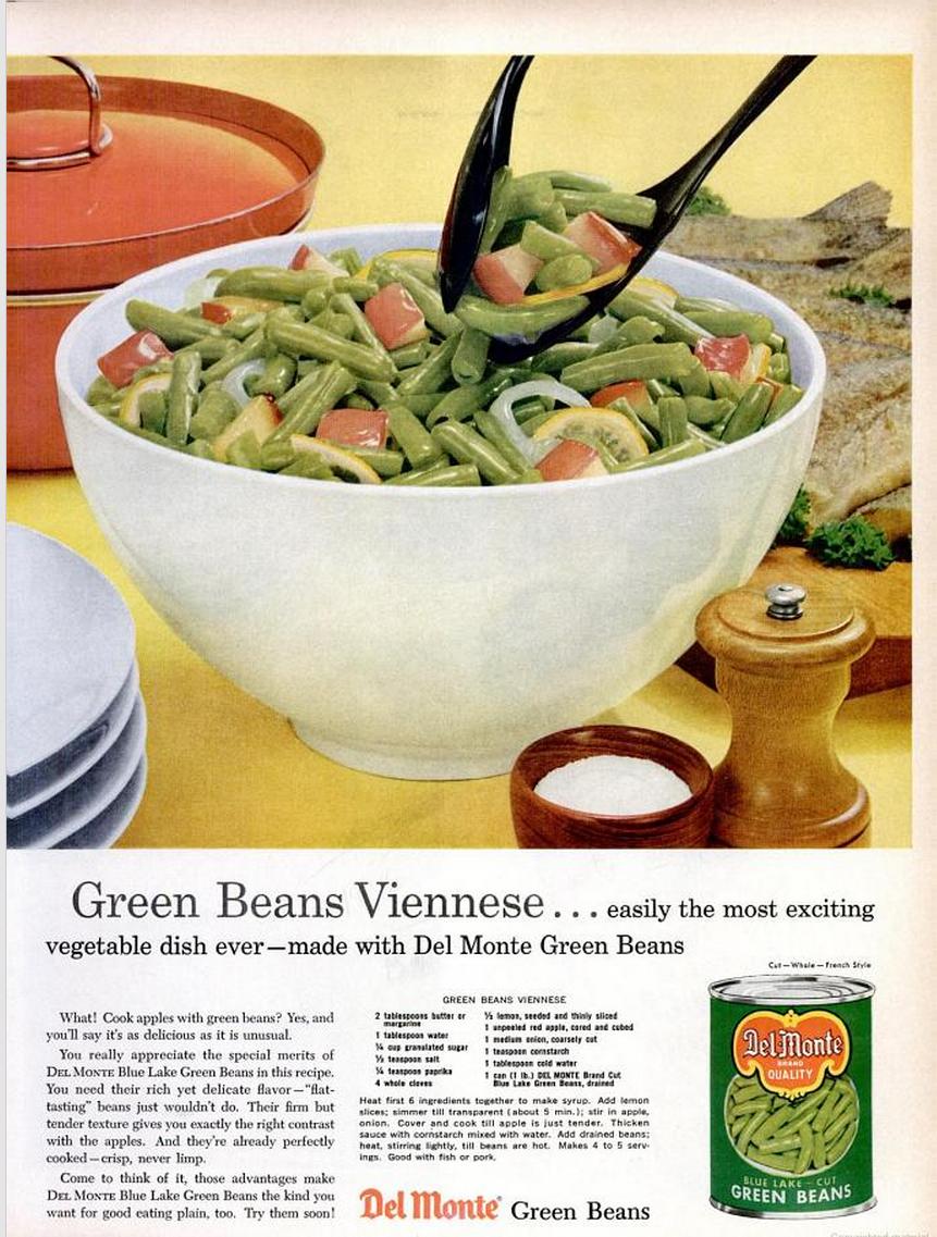Del Monte Green Beans Eb Dec 59
