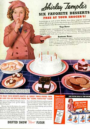 Shirely Temple flour ad