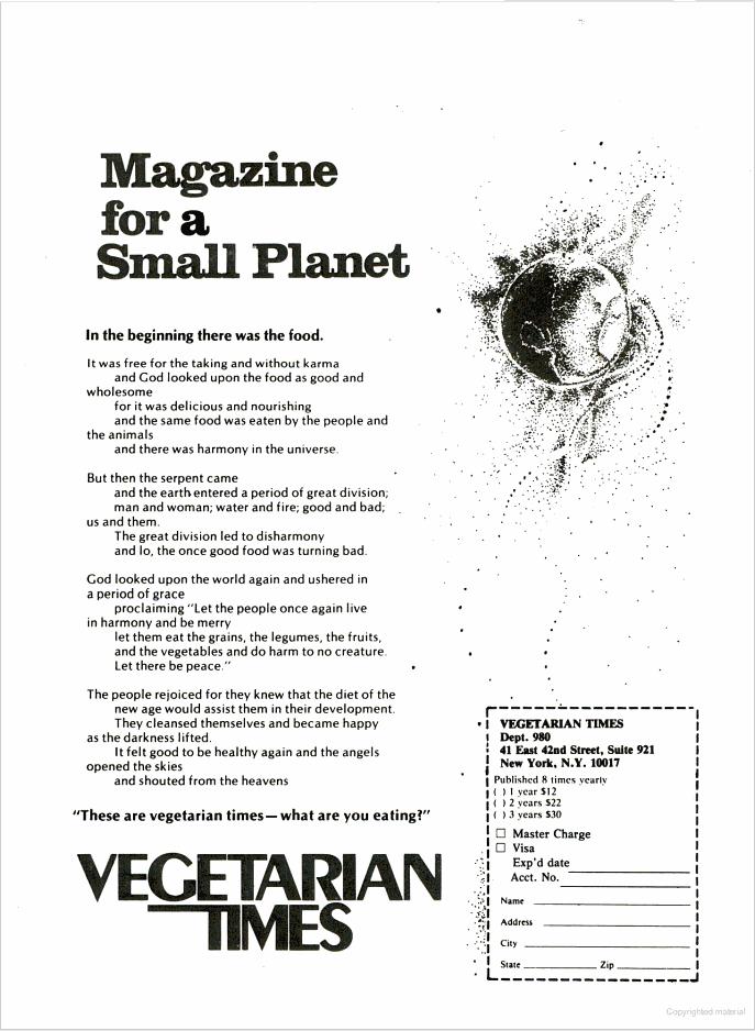 Vegetarian Times 1980