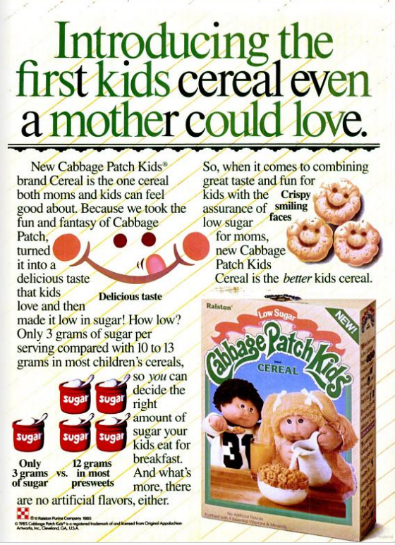 cabbage patch kids cereal WM Jul 85
