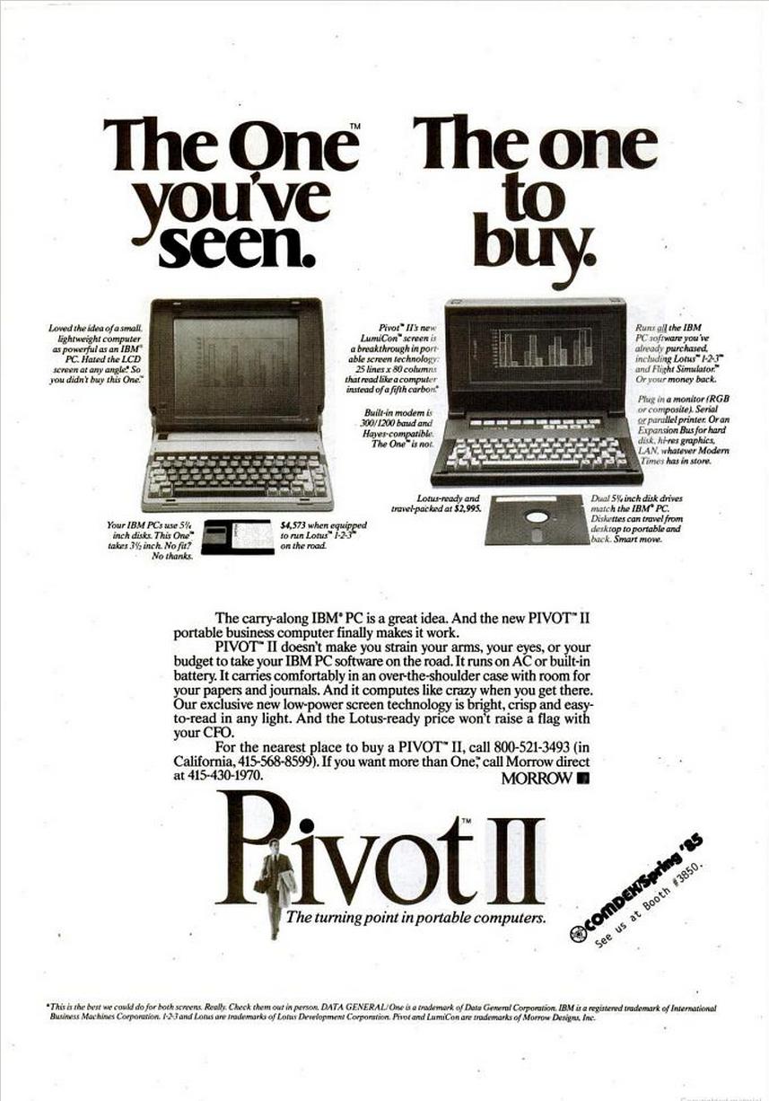 Pivot II Computerworld May 13 85