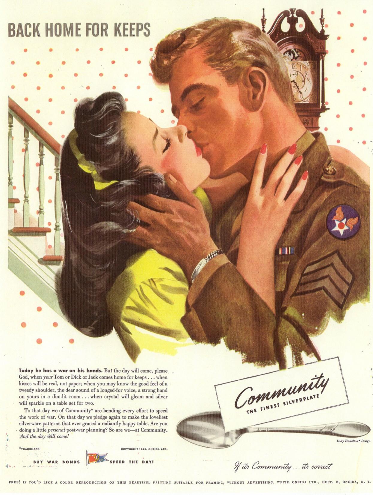 community silver 1940s