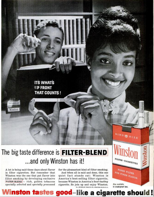 Winston Cigarette Ads From 1960s