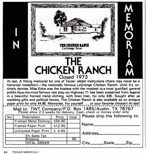 The Chicken Ranch TM June 1975