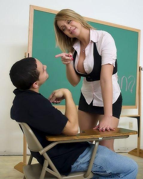 Фото училка и ученик