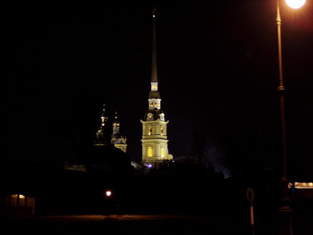Петропавловская крепость, вид сзади