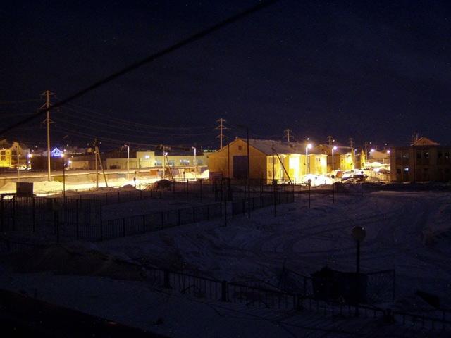 Ночной вид из окна гостиницы