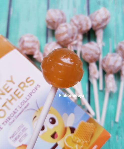 Леденцы на палочке от боли в горле Honey Soothers Lollipops со вкусом апельсина