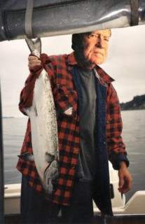 my first salmon.  not my first head.