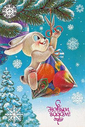 заяц Валера ворует подарки