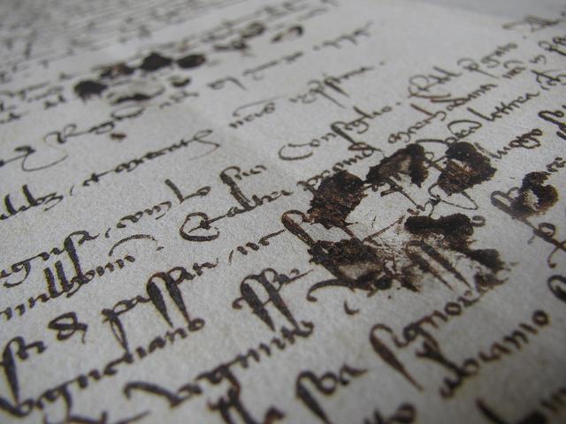 Cat paw prints on a medieval manuscript2