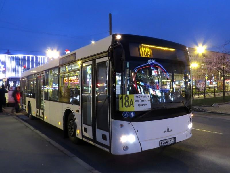 Новый МАЗ-203 на маршруте 18а