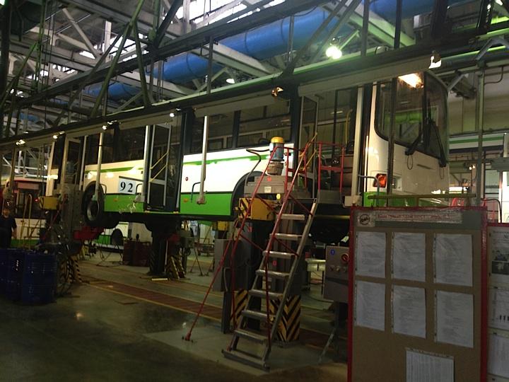 Новый ЛиАЗ-5293 для Питеравто на заводе в Ликино