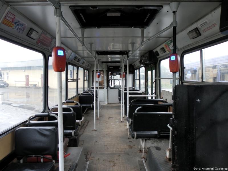 Валидаторы в автобусе ЛиАЗ-5256