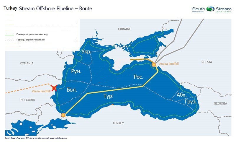 Turkey stream gas pipeline