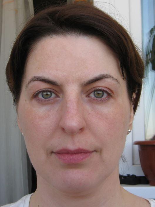 лицо без макияжа