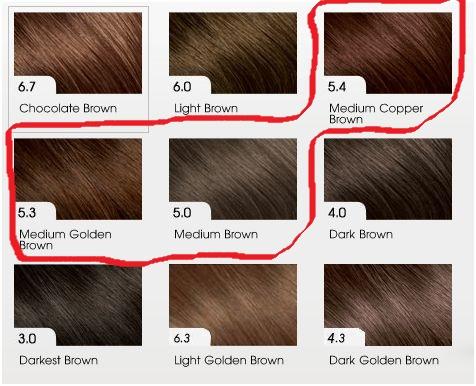 Тоны и уровни цвета волос
