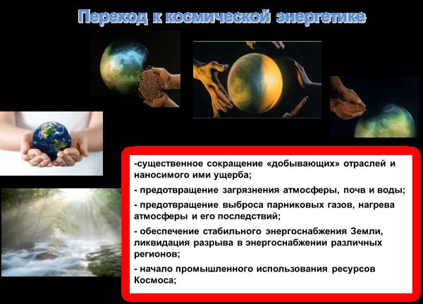ПЕРЕХОД К КОСМИЧЕСКОЙ ЭНЕРГЕТИКЕ НЕИЗБЕЖЕН