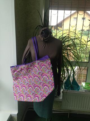 Пляжн сумка фиолетовая