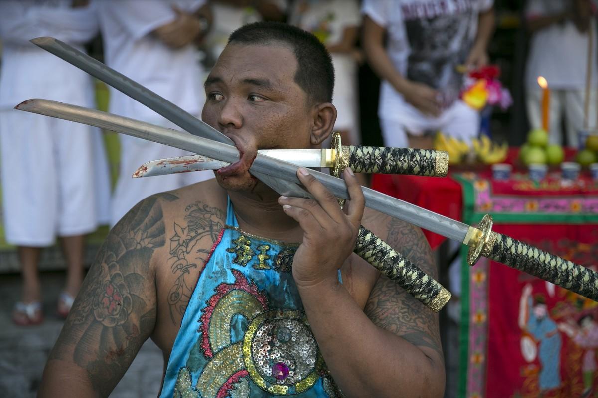 Фестиваль вегетарианцев в Таиланде