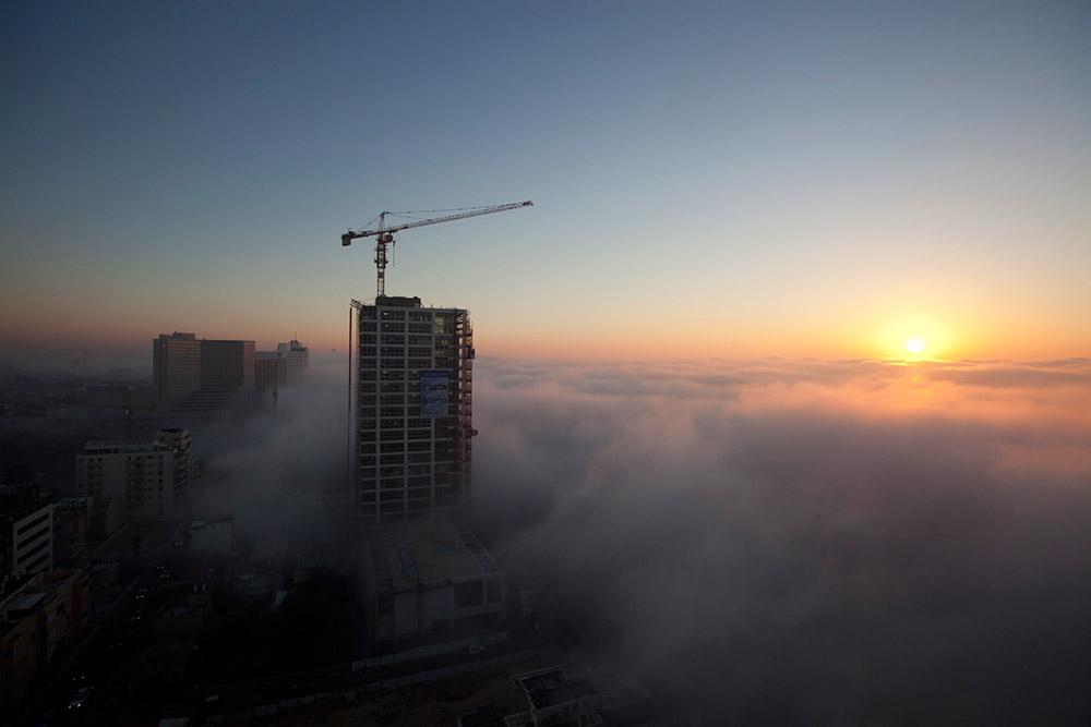 Туман в Тель-Авиве
