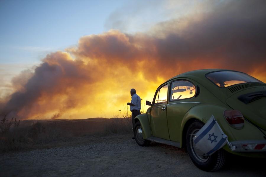 Пожар на севере Израиля
