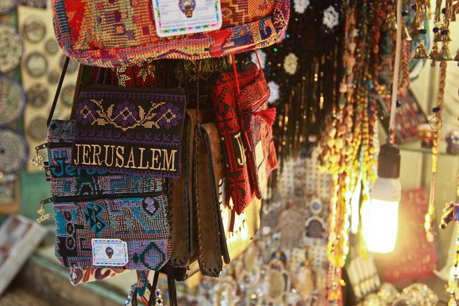 Арабский базарчик сувениров в Иерусалиме