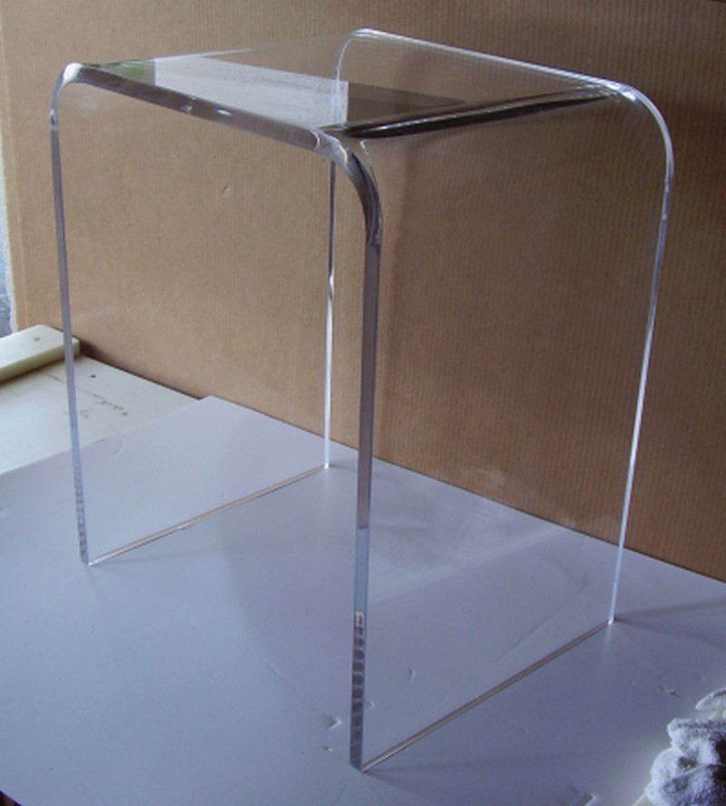 25 high clear acrylic end table added to the line of. Black Bedroom Furniture Sets. Home Design Ideas