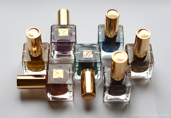 Estee-Lauder-Midnight-Metal----Metallic-Green---Chrome-Violet--Steel-Orchid---Chocolate-Foil---Rose-Gold--Brushed-Gold---Smoked-Chrome---2013-nailru---plein