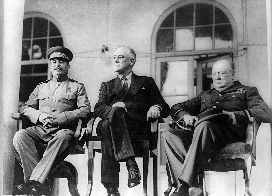 Сталин Рузвельт Черчиль, Тегеран, 1943