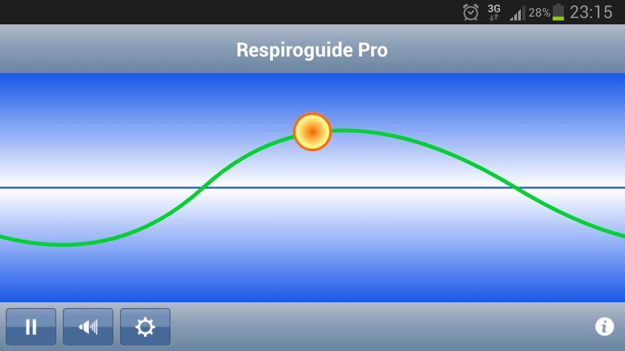 Скриншот приложения по нормализации дыхания