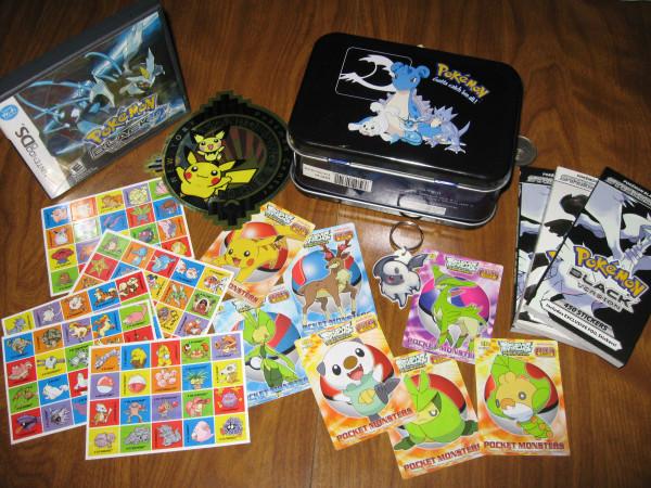Pokemon stickers and stuff