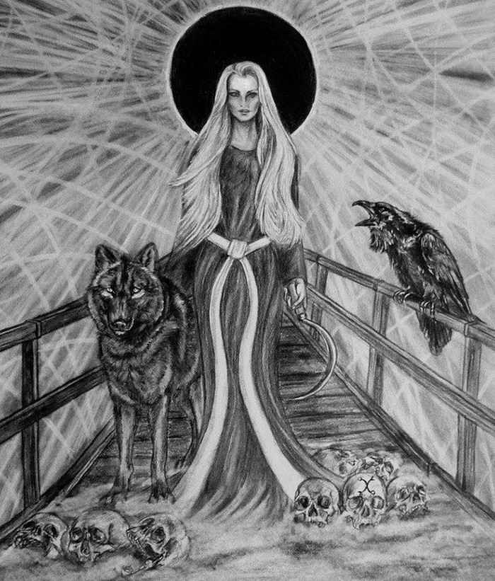 Богиня Марена (Морана, Мара, польск. Marzana, Śmiertka, словацк. Morena, Marmuriena, чеш. Morana, Smrtka)