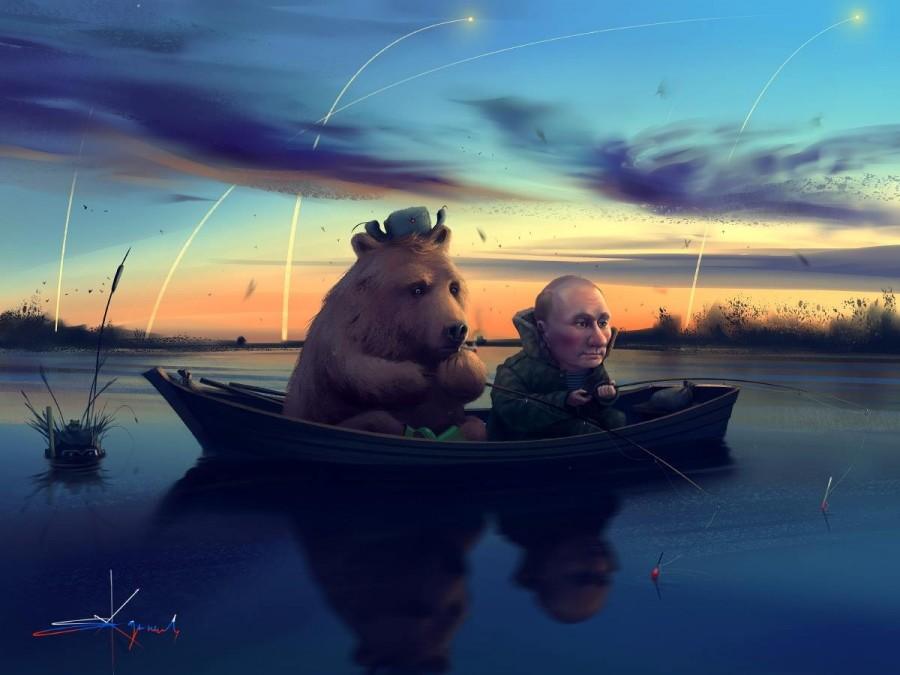пока царь на рыбалке