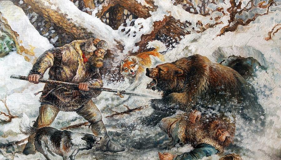 человек смотрит на медведя картинки этом деле