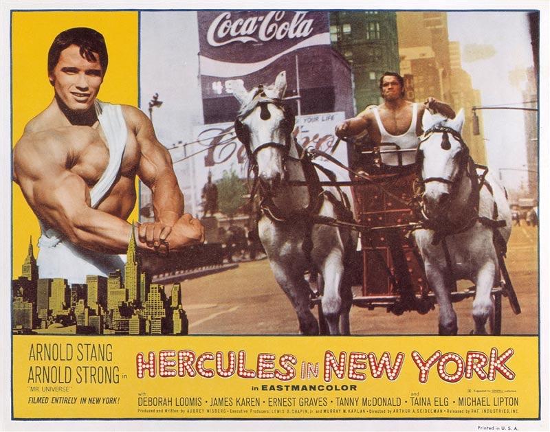 """Первый фильм Арнольда Шварценеггера """"Геркулес в Нью-Йорке"""", который чуть ли не стал последним."""
