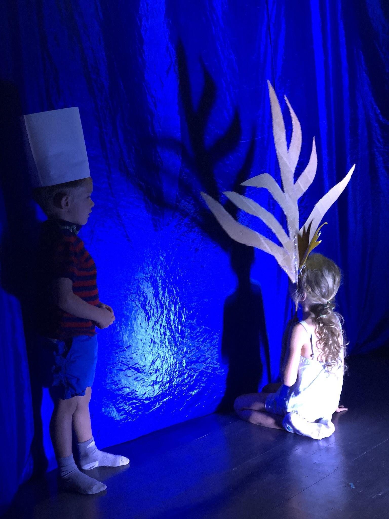 Теневой театр в детском театре Домик Фанни Белл.