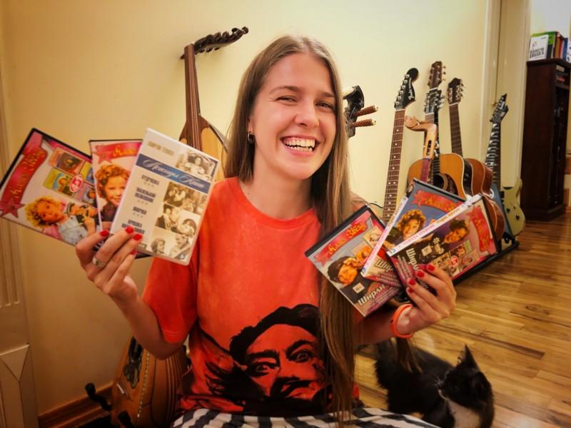 Моя коллекция фильмов с Ширли Темпл на DVD.