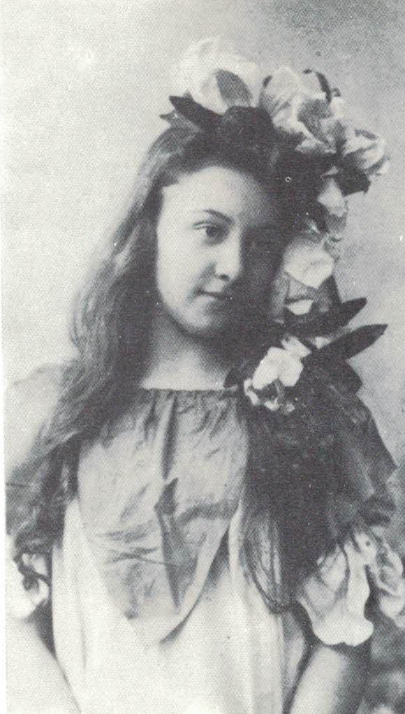 Александра Перегонец в детстве.