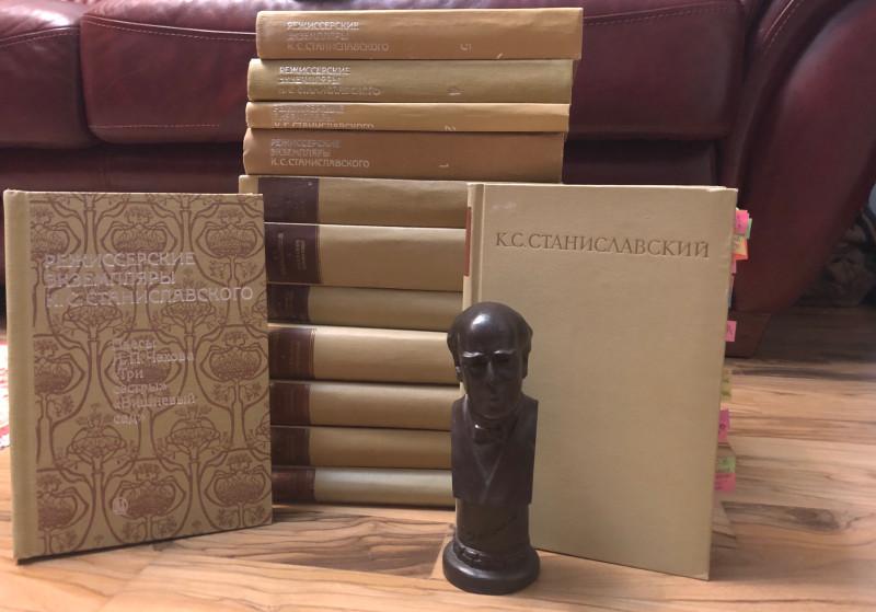 А это моя коллекция + записи репетиций Станиславского. 8 томов + 6 томов (одного у меня пока нет).  Такого в современной России не издают.