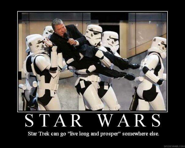 Исполнителя главной роли из Стар Трека уносят со сцены имперцы из Звездных Войн.