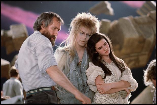 "Съемки фильма ""Лабиринт"" с Дэвидом Боуи. Режиссер и автор фильма - Джим Хэнсон."