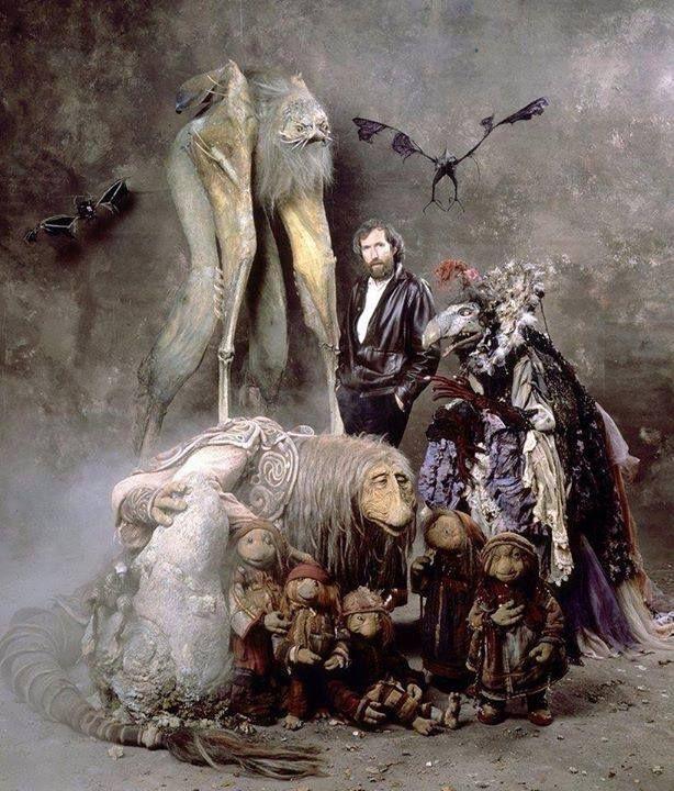 Джим Хэнсон и персонажи Темного Кристалла.