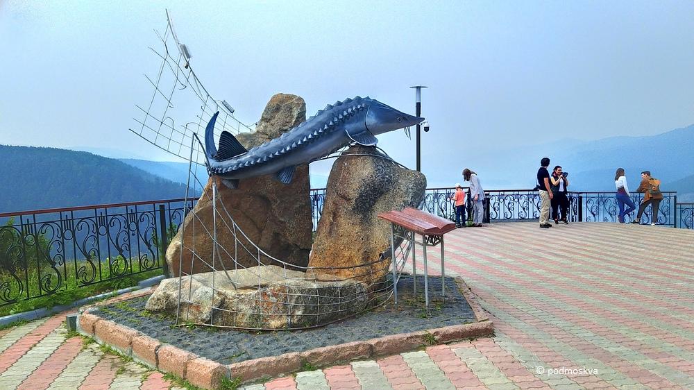 Смотровая площадка «Царь-рыба» в Красноярске блог-тур,Красноярский край,Сибирь