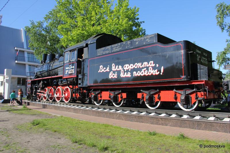 Паровоз на железнодорожной станции «Ладожское озеро»