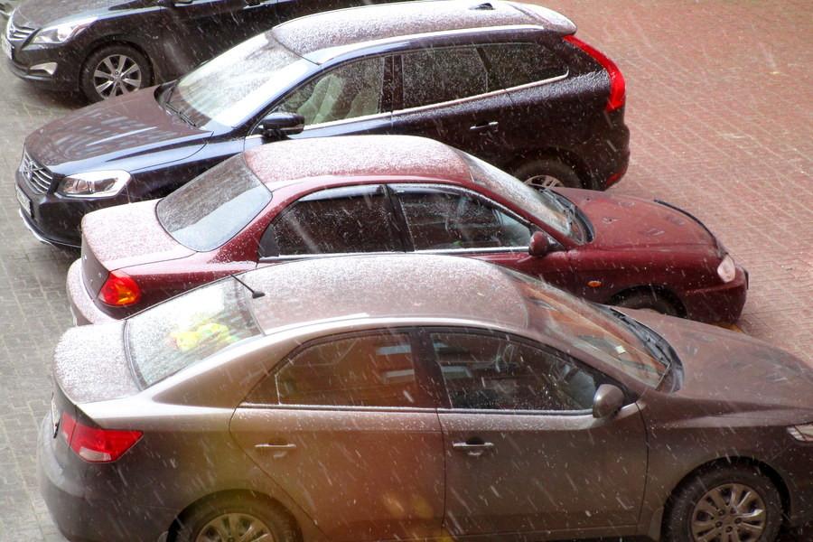 Первый снег в Домодедово