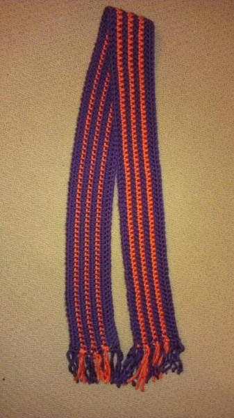 Clemson scarf for Courtney